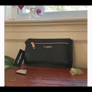 NWT Sleek Karl Lagerfield wristlet